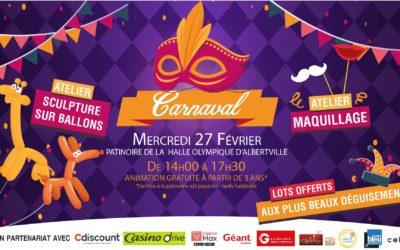 Viens fêter Carnaval à la patinoire !