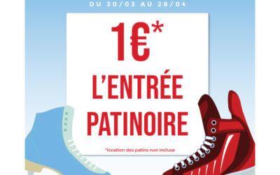 En avril la patinoire est à 1€ !